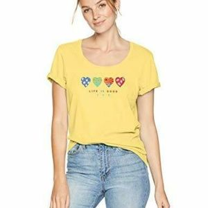 Life is Good 365 Womens T-Shirt Hearts